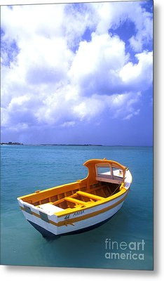 Aruba. Fishing Boat Metal Print