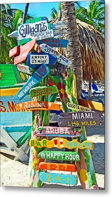 Aruba Fun Signs Metal Print