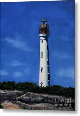 Aruba Light House Metal Print by Paul Walsh