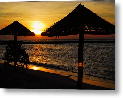 Aruba Sunset Metal Print