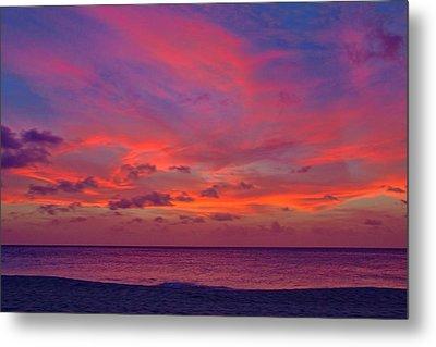 Aruba Sunset Metal Print