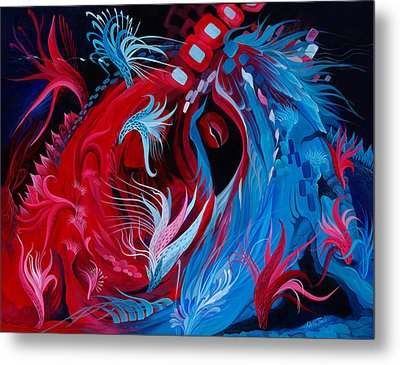 As A Beating Heart Metal Print by Adria Trail