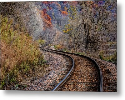 As I Walk The Tracks I Think Metal Print