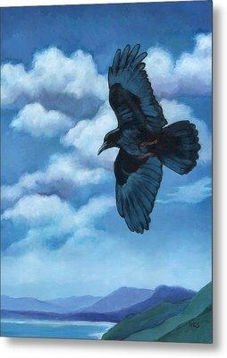 As The Crow Flies... Metal Print by Rebecca Ives