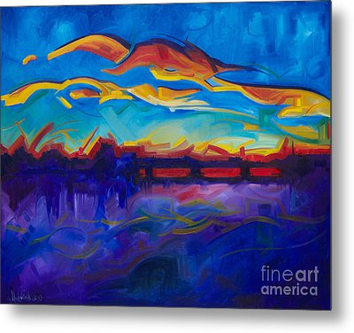 As The Day Begins Metal Print by Michael Ciccotello