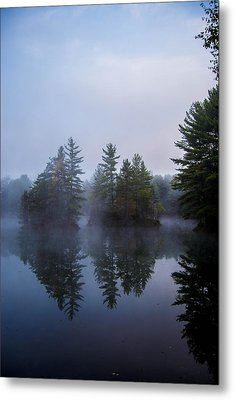 As The Fog Rolls In Metal Print by Anthony Thomas
