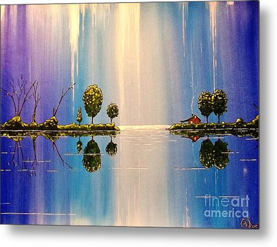 As The Moonlight Dripped Metal Print