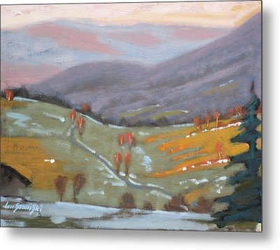 Metal Print featuring the painting As The Sun Sets by Len Stomski