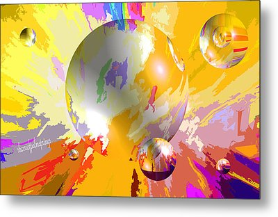 As The World Turns With Peace Metal Print