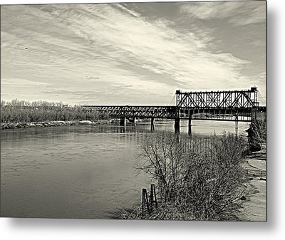 Metal Print featuring the photograph Asb Bridge Over The Missouri River by Karen Kersey