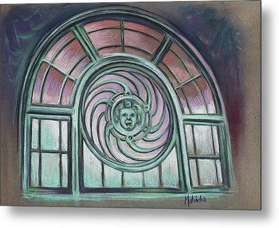 Asbury Park Carousel Window Metal Print