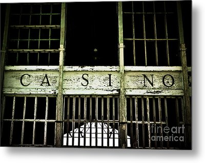 Asbury Park Casino Metal Print by Colleen Kammerer
