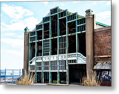 Asbury Park Casino - My City In Ruins Metal Print by Bill Cannon
