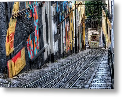 Ascensor Do Lavra Lisbon Metal Print