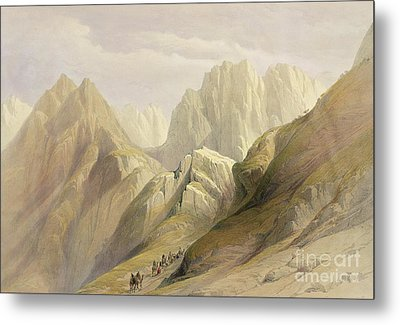 Ascent Of The Lower Range Of Sinai Metal Print by David Roberts