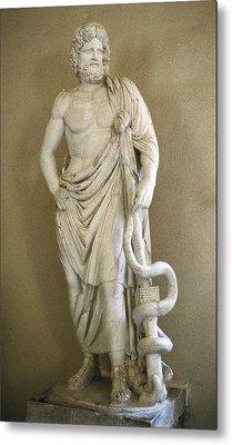 Asclepius. 4th C. Bc. Classical Greek Metal Print by Everett