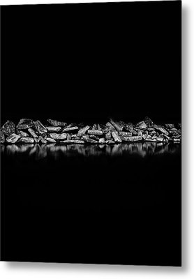 Ashbridges Bay Toronto Canada Breakwall 1 Metal Print by Brian Carson