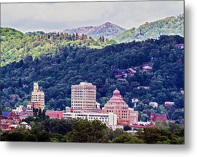 Asheville Painted Metal Print by John Haldane
