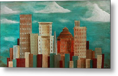 Asheville Skyline Metal Print