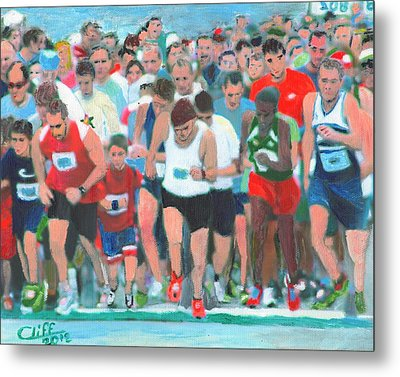 Ashland Half Marathon Metal Print by Cliff Wilson