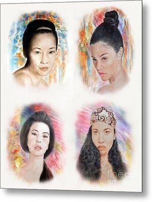 Asian Beauties  Metal Print