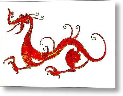 Asian Dragon Metal Print by Michael Vigliotti