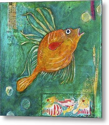 Asian Fish Metal Print by Bellesouth Studio
