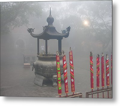 Metal Print featuring the photograph Asian Mornining In Lantau China by Jacqueline M Lewis