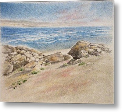 Asilomar Rocks Metal Print by Renee Goularte