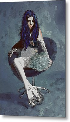 Metal Print featuring the digital art Ask Alice by Galen Valle