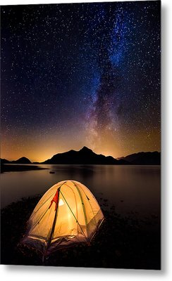 Asleep Under The Milky Way Metal Print by Alexis Birkill