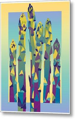 Asparagus Gradient Metal Print