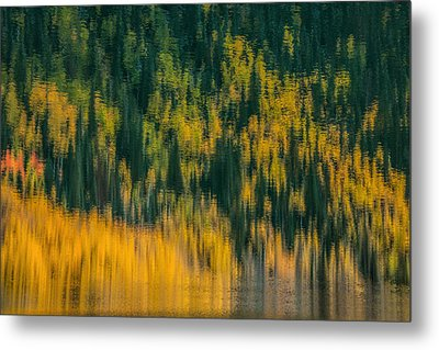 Metal Print featuring the photograph Aspen Abstract by Ken Smith