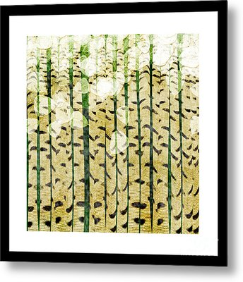Aspen Colorado Abstract Square 3 Metal Print by Andee Design