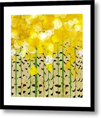 Aspen Colorado Abstract Square Metal Print by Andee Design
