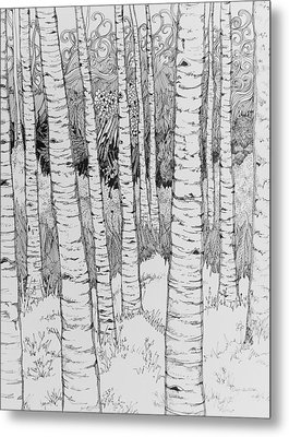 Aspen Forest Metal Print by Terry Holliday