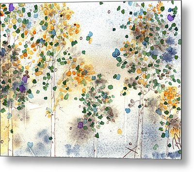 Aspen Grove Metal Print by Dawn Derman