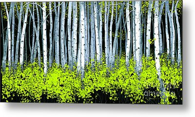 Metal Print featuring the painting Aspen II by Michael Swanson