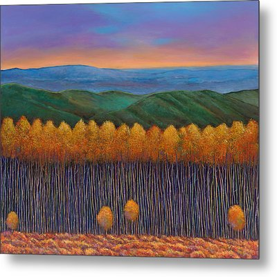 Aspen Perspective Metal Print by Johnathan Harris