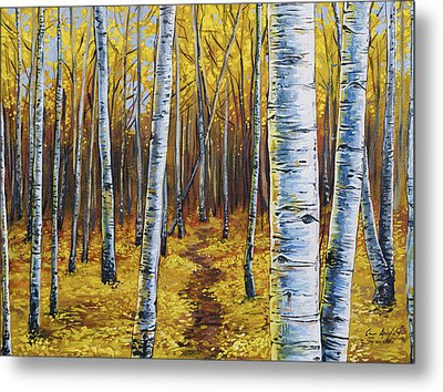 Aspen Trail Metal Print by Aaron Spong