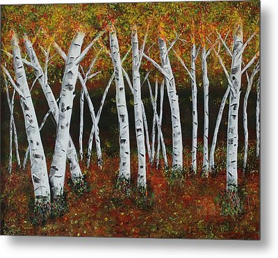 Aspens In Fall 1 Metal Print
