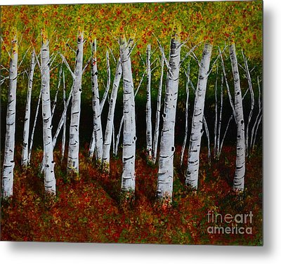 Aspens In Fall 2 Metal Print