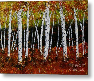 Aspens In Fall 3 Metal Print