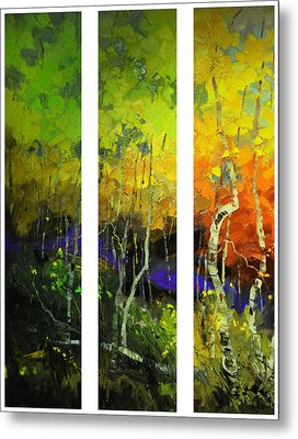 Aspens In Season Metal Print