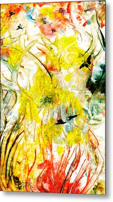 Metal Print featuring the painting Assiduous by Ron Richard Baviello