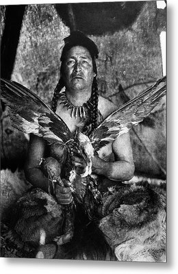 Assiniboin And Eagle, 1926 Metal Print by Granger