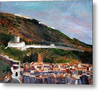 Assisi Hillside Metal Print