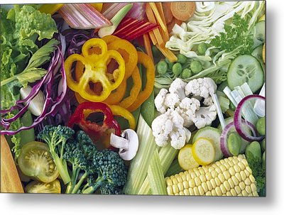 Assorted Vegetables Metal Print by Science Photo Library