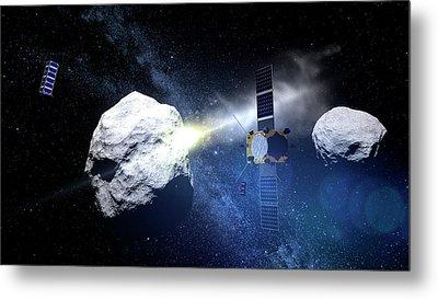 Asteroid Impact Mission Metal Print by European Space Agency/scienceoffice.org