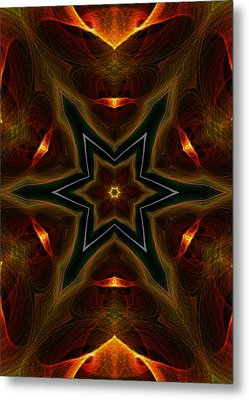 Asteroid Impact Metal Print by Owlspook